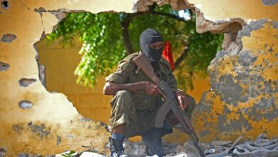 A Somali soldier in the Somali capital Mogadishu.