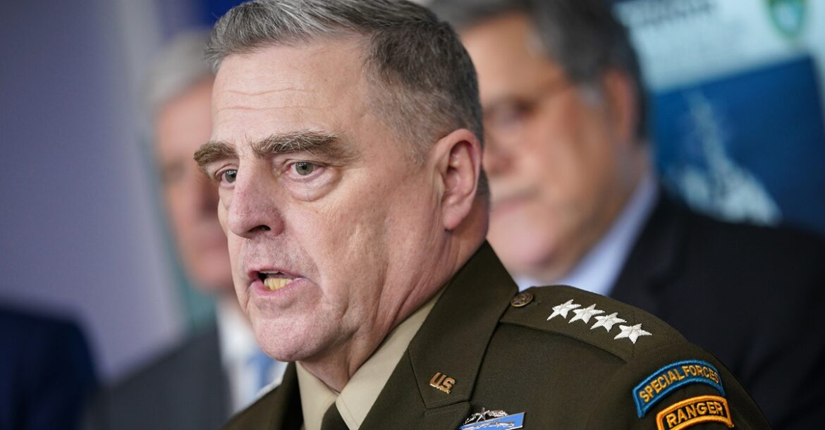 Joint Chiefs Chairman General Mark Millley at the White House on April 1, 2020.