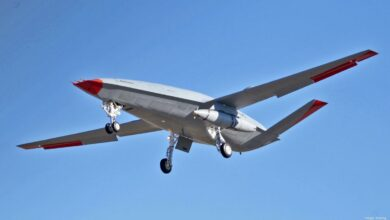 Boeing flies MQ-25 tanker drone with aerial refueling system for the first time.