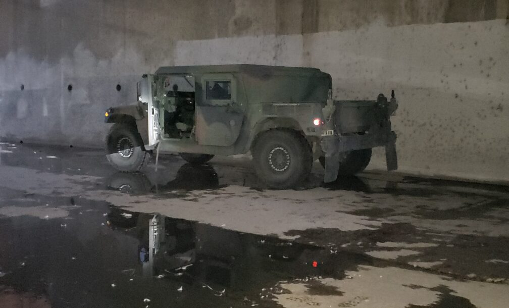 THe recovered Humvee