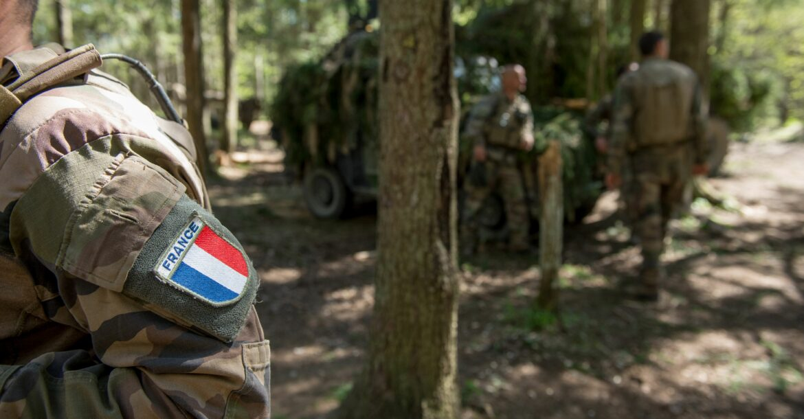 France's Defence Forces participate in the Estonian Defence Forces annual 'Spring Storm' exercise on May 22, 2017 near the city of Tapa, eastern Estonia.