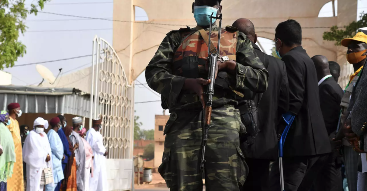 Security during elections in Niger's capital Niamey