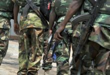 Photo of Nigerian soldiers