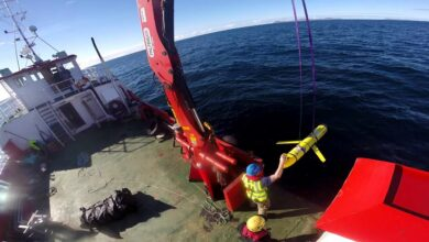 Photo of an ocean glider unmanned underwater vehicle