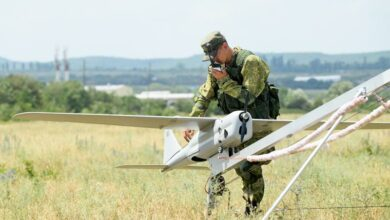 Orlan10 unmanned aerial vehicle.