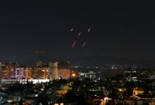 Syrian Air defences respond to Israeli missiles targeting south of the capital Damascus, on July 20, 2020