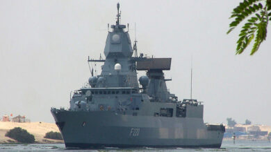 Germany's Sachsen class air-defense frigate