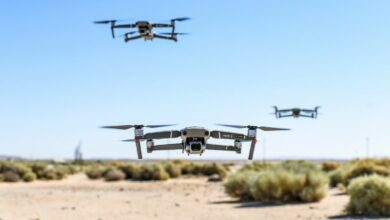 Photo of a few small drones