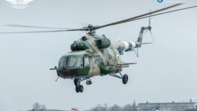 Ukraine Mi-8MT helicopter