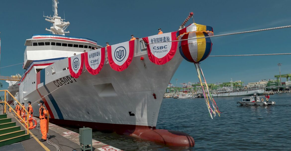 Taiwan's Chiayi, its largest ship to date, was commissioned on Thursday, April 29.