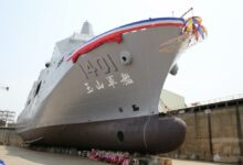 Taiwan's amphibious assault and transport vessel, the Yushan