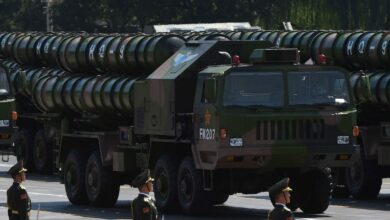 HQ-9 surface-to-air missile in a parade