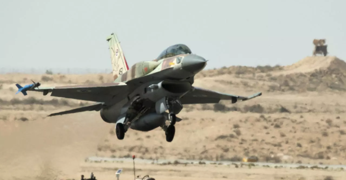 An Israeli F-16 I fighter jet takes off at the Ramon air force base in the Negev Desert, southern Israel, on October 21, 2013.
