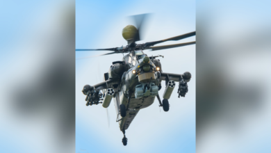 An Mi-28NM attack helicopter