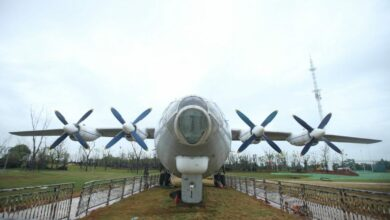 Shaanxi y-8 airplane