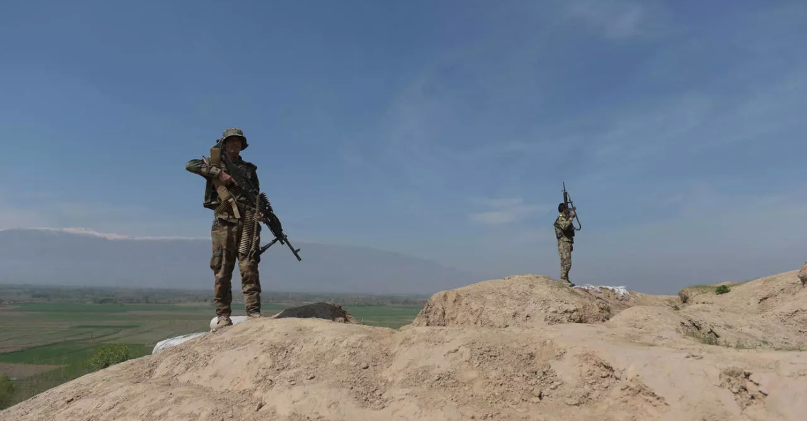 Afghan National Army soldiers keep watch in Dand-e-Ghori district in Baghlan province on March 15, 2016, following weeks of heavy battles to recapture the area from Taliban militants