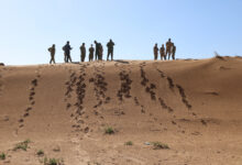 Planners for exercise African Lion 21 survey a small arms weapons range during a visit to Morocco, January 20, 2021