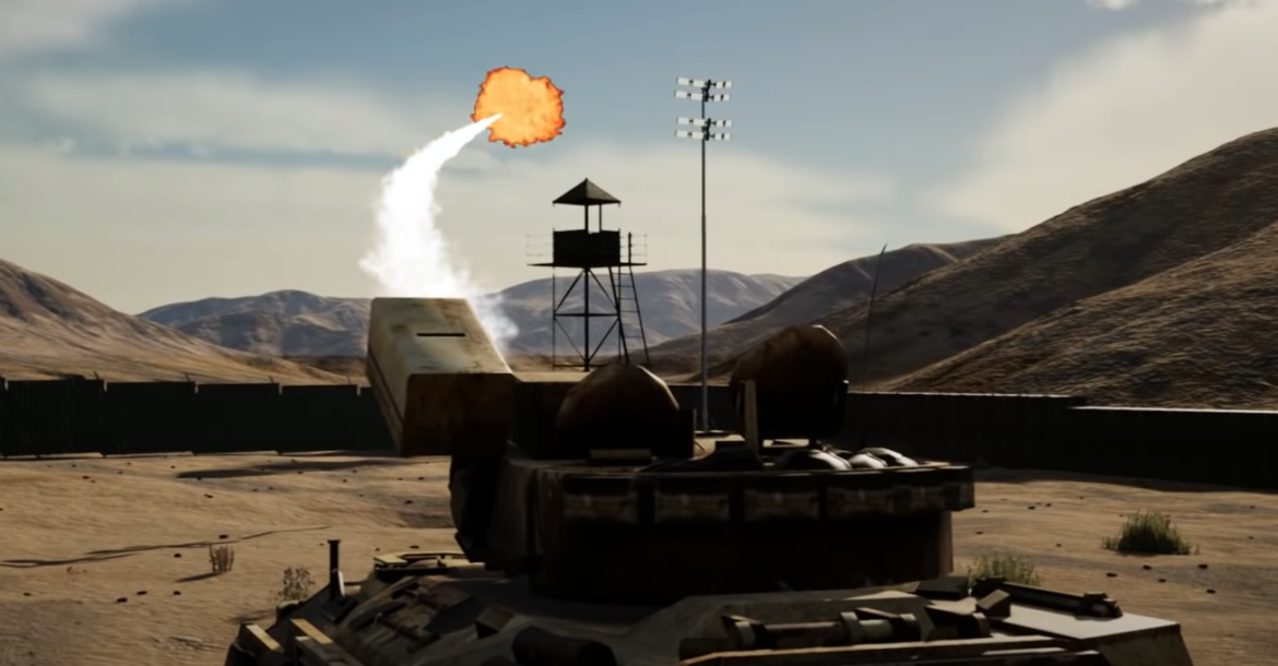 Screenshot from the Air Force Research Laboratory's animated video of the Tactical High-power Operational Responder (THOR)