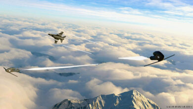 Artist's impression of Wave Engine Corp.'s Versatile Air-Launched Platform launched from a fighter aircraft.