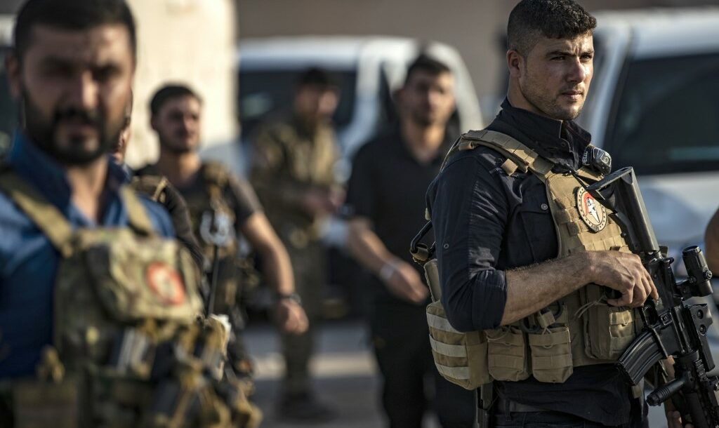 Members of the special forces of the Kurdish-led Syrian Democratic Forces