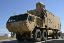 The HEL-MD laser system mounted on a standard Army heavy expanded mobility tactical truck
