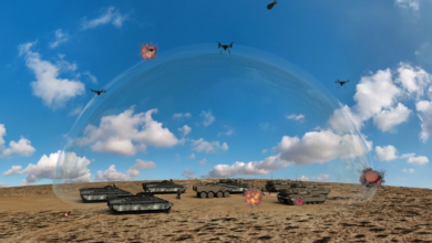 Artist impression of how the laser defense system could work.