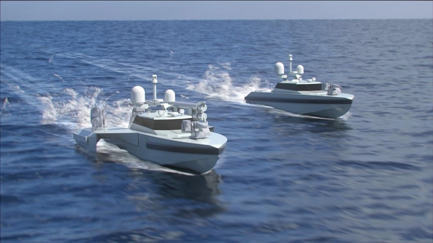 NB57 ASW USV (left) and RD09 ASuW USV (right)
