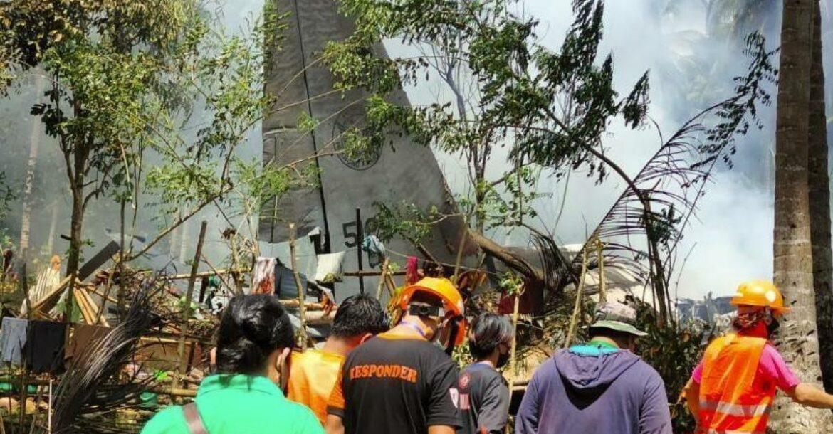 The Hercules C-130 transport plane was carrying 96 people, most of them recent Philippines army graduates, when it overshot the runway