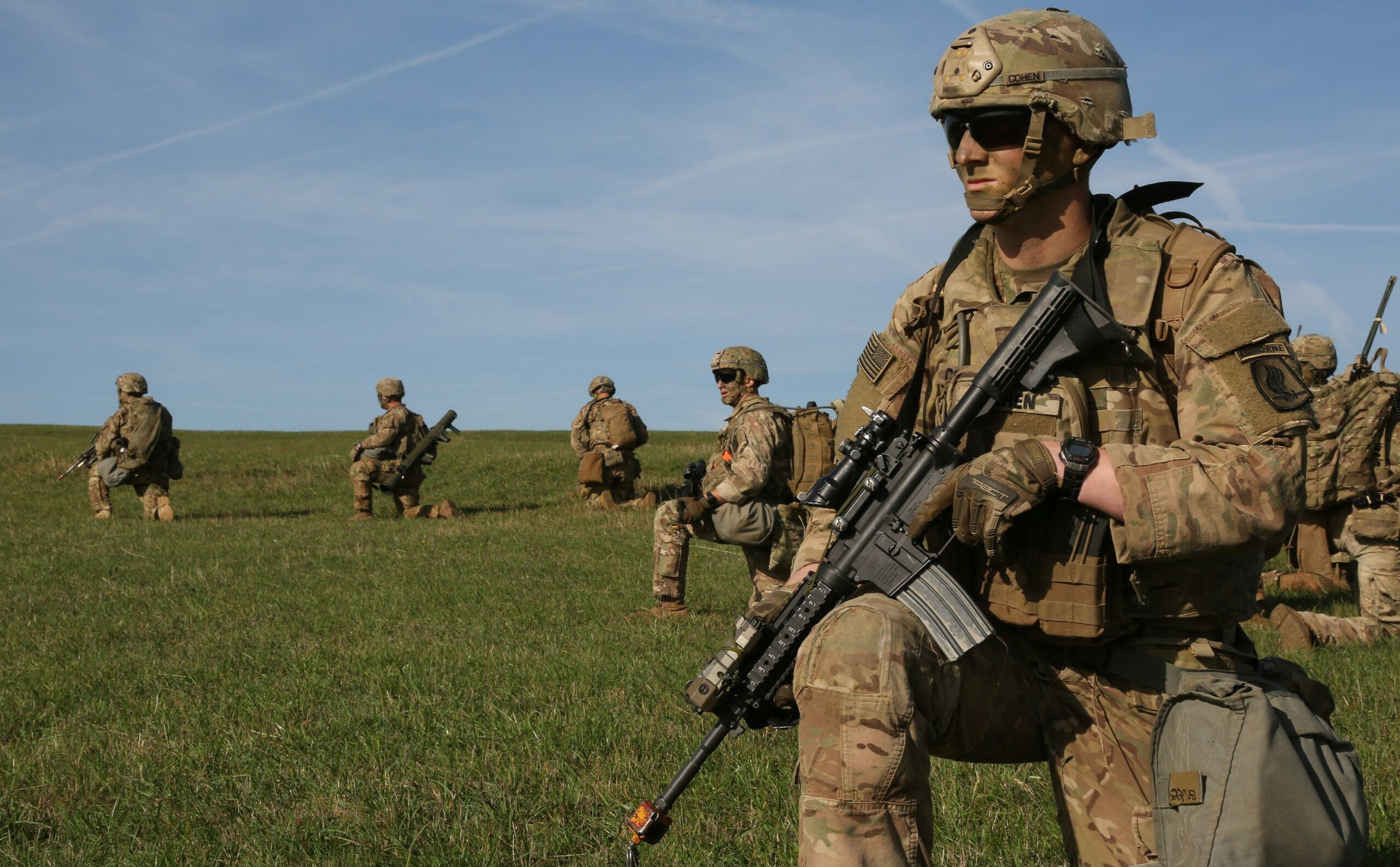 Soldiers with the 173rd Airborne Brigade Combat Team