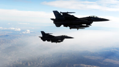 Two F-16 Fighting Falcons