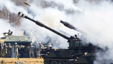 M109A6 Paladin howitzers