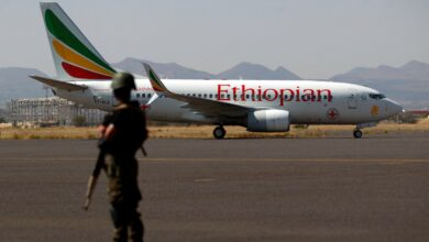 An Ethiopian Airlines Boeing 737-760 aircraft