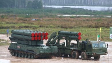 A Buk-M3 surface-to-air missile system