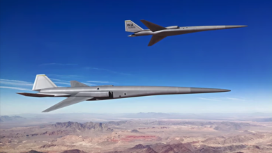 Concept image of supersonic uncrewed aerial vehicles