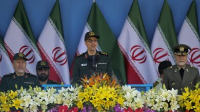 Iranian General Mohammad Bagheri, chief of staff of Iran's armed forces, speaks during the annual military parade, on Sept.21, 2016, in the capital Tehran
